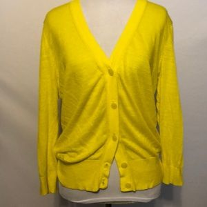 Ann Taylor Loft yellow cardigan size large